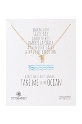 Dogeared 14K Sterling Silver Take Me To The Ocean Seahorse Necklace Metallic