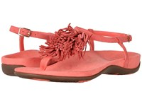 Vionic Sosha Deep Sea Coral Women's Dress Sandals Red