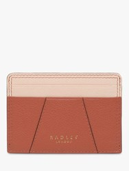Radley Wood Street Leather Small Card Holder Brown