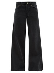 Raey Stride Wide Leg Jeans Black