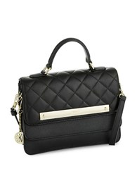 Dkny Quilted Leather Handbag Black