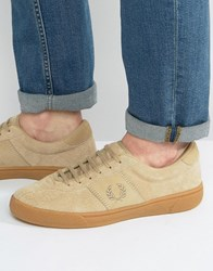 Fred Perry Authentic Suede Sneakers Beige