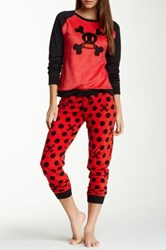 Paul Frank Essentials Pj Set Red