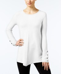 Alfani Ribbed Swing Sweater Only At Macy's Soft White