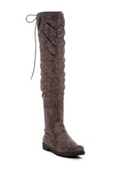 Modern Rebel Kioko Over The Knee Boot Gray