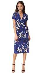 Yumi Kim Caught In The Midi Wrap Dress Sienna Fiesta Navy