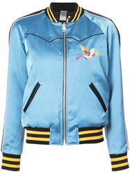Coach Reversible California Puffer Jacket Silk Blue