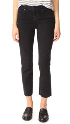 Paige Jacqueline Straight Leg Jeans With Raw Hem Riot