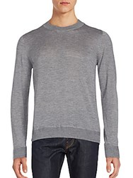 Canali Long Sleeve Crewneck Pullover Grey