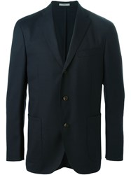 Boglioli Classic Tailored Blazer Blue
