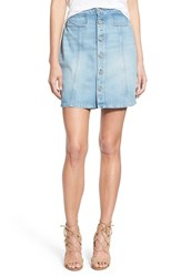 Women's Paige Denim 'Bianca' Button Front Denim Skirt Ambrose