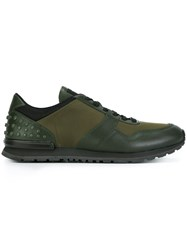 Tod's Panelled Low Top Sneakers Green