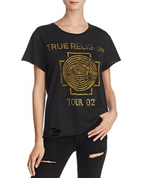 True Religion Dizzy Tour Destroyed And Embellished Tee Black