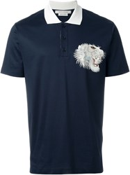 Marc Jacobs 'Tiger Stitch' Polo Shirt Blue