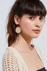 Urban Outfitters Hammered Tortoise Statement Drop Earring Gold