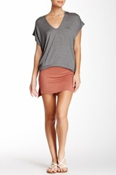Riller And Fount Ruby Attached Short Slit Side Skirt White
