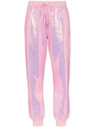 Ashish X Browns Badass Sequin Embellished Track Pants Pink
