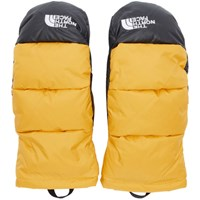 The North Face Yellow Down Nuptse Mittens