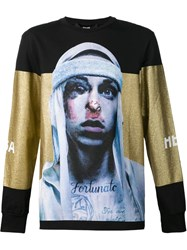 Hood By Air Printed Sweatshirt Black