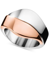 Calvin Klein Women's Senses Two Tone Pvd Stainless Steel Ring Kj5epr2001 Two Tone