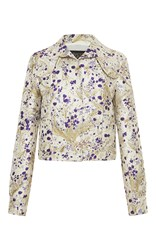 Giambattista Valli Whimsical Metallic Cropped Jacket