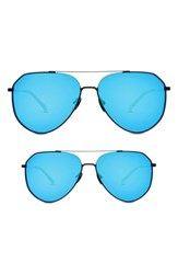 Diff Mommy And Me Dash 2 Pack Aviator Sunglasses Black Blue Black Blue