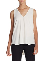 Sachin Babi Temple Leather Laser Cut Patterned Back Tank Ivory