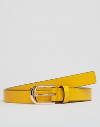 Smith And Canova Skinny Leather Belt Yellow