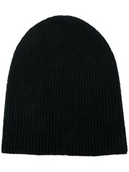 Roberto Collina Cashmere Knitted Beanie Black