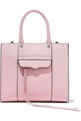 Rebecca Minkoff Woman M.A.B. Mini Textured Leather Tote Baby Pink