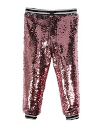 Milly Minis Moveable Sequin Jogger Pants Size 8 16 Pink