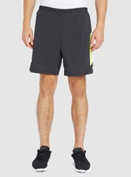Nike Black And Yellow Poursuite 2 In 1 Shorts 7 Inches
