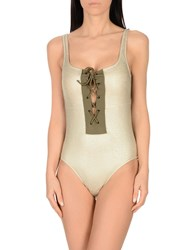 4Giveness One Piece Swimsuits Beige