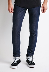 Forever 21 Classic Slim Leg Jeans Denim Washed