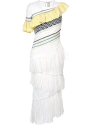 Peter Pilotto Tiered Dress White