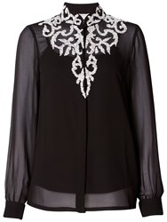 Raishma Beaded Shirt Black