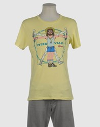 Toxic Toy Topwear Short Sleeve T Shirts Men Light Yellow