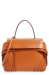 Tod's 'Small Wave' Leather Satchel Orange