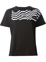 Golden Goose Deluxe Brand 'Flag' T Shirt Black