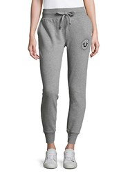 True Religion Patches Jogger Pants Heather Grey