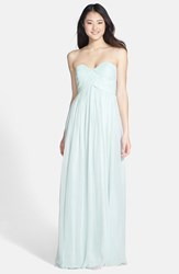 Women's Donna Morgan 'Laura' Ruched Sweetheart Silk Chiffon Gown Hint Of Mint