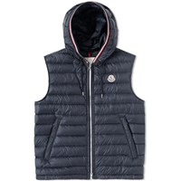 Moncler Cyriaque Hooded Gilet Blue