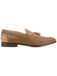 Brimarts Woven Tassel Loafers Brown