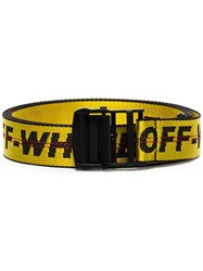 Off White Industrial Logo Belt Yellow