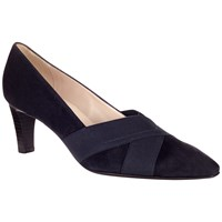 Peter Kaiser Malana Cross Strap Court Shoes Navy