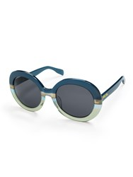 Folli Follie Oversized Round Blue Sunglasses