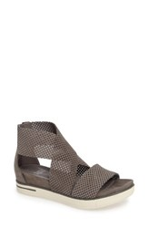 Eileen Fisher Women's 'Sport' Platform Sandal Graphite Perforated Leather