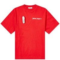 Palm Angels New Basic Tee Red