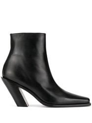Ann Demeulemeester 100Mm Pointy Western Ankle Boots 60