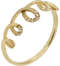 Annoushka Coronet 14Ct Yellow Gold And Sapphire Ring